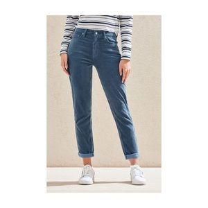 Blue Corduroy Mom Jeans